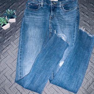 Levi's Distressed Skinny Jeans Size 27